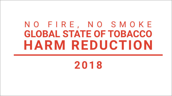 Global State of Tobacco Harm Reduction 2018.