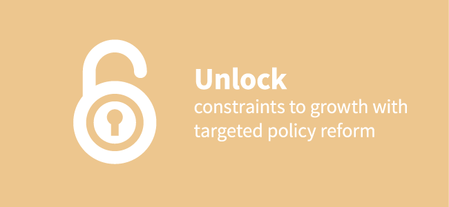 Unlock constraints to growth with targeted policy reform